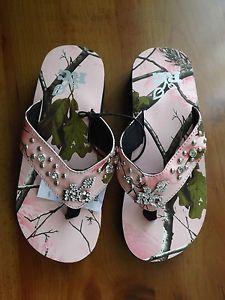 2daa20a5ca4c Realtree women s rg flip flops - pink camo size 7 or 8