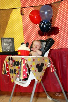 mickey mouse high chair decoration and 1 poster of pictures   mickey      rh   pinterest com