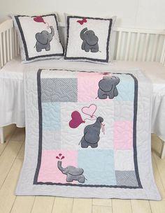 Unique Elephant Crib Quilt