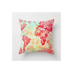 Oh, The Places We'll Go Throw Pillow ❤ liked on Polyvore