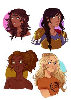 Reyna Ramillez-Arellano,Annabeth Chase,Piper McLean and Hazel Levesque