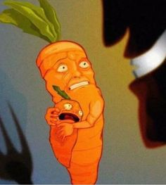 Look at this poor carrot trying to protect its family from the incomprehensible savagery of vegans
