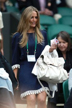 A look back at Kim Sears' evolving style as she takes Wimbledon fashion mantle from absent Kate Middleton Navy And White Dress, Black And White Shoes, Navy Dress, Kim Murray, Court Outfit, Preppy Style, My Style, Classy Style, Summer Lookbook