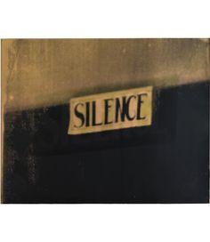 Christian Marclay  Silence, 2006  silkscreen ink on paper