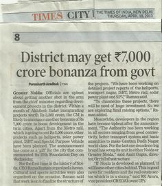 Orris Media coverage in The Times of India dated 18April 2013