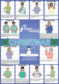 Christmas Poster, J) Posters, Signalong Store