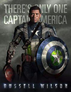 *Russell Wilson, Captain America. Seattle Seahawks