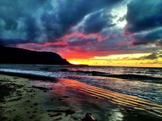 Kauai Beach Sunset Aflame | Hawaii Pictures of the Day