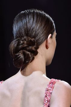 25 Easy Wedding Updos to Wear This Wedding Season - low chignon Braided Bun Hairstyles, Bun Hairstyles For Long Hair, Celebrity Hairstyles, Hairdos, Bridal Beauty, Bridal Makeup, Wedding Beauty, Pretty Updos, Low Chignon