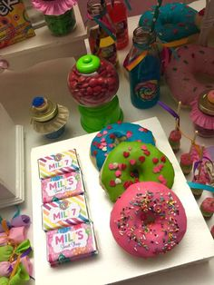 Erika Cool Party's Birthday / Candys - Photo Gallery at Catch My Party Candy Theme Birthday Party, Girls Birthday Party Themes, Candy Party, Birthday Parties, Jojo Siwa Birthday, Girl 2nd Birthday, Fantasy Party, Colorful Party, Party Ideas