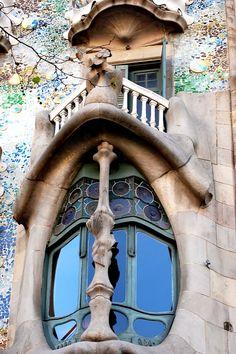 Balcon Casa Batlló, Gaudi, Barcelona