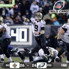 The Saints just grabbed their first road playoff win. Ever.