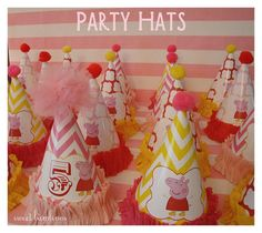 Peppa Pig Party hats  PDF file by sweetbambinos on Etsy, $6.00
