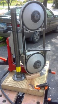 Dirt-cheap portaband (portable band saw) stand - Tools, general discussion - I Forge Iron