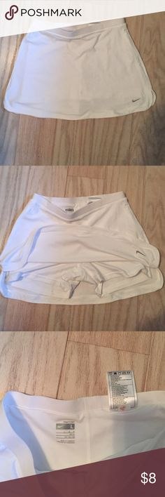 Nike fit dry junior tennis skirt NWOT Pear white tennis skort for the next tennis match! Nike Skirts Mini