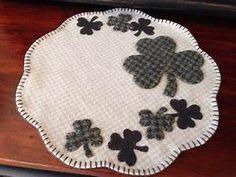 Shamrock wool penny rug | Sewing | Pinterest