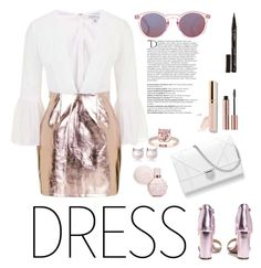 """""""Senza titolo #5552"""" by waikiki24 ❤ liked on Polyvore featuring Topshop, Boohoo, Beautycounter, Smith & Cult and Balmain"""
