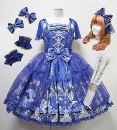 Angelic Pretty☆Crystal Dream Carnival ティアード JSK Set_画像1