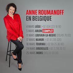 Anne Roumanoff part à la rencontre des Belges avec son show : Aimons-nous les uns les autres