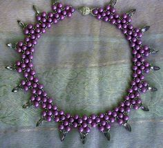 Free pattern for necklace Violet Freeze