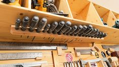 Woodshop Mounting a screwdriver set horizontally can save valuable space in a smaller shop.