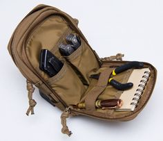 The Mil-Spec Monkey Stealth Compact Pouch is a compact version of the Mil-Spec Monkey Stealth pouch and is about times thinner. Bug Out Gear, Survival Gear, Survival Stuff, Urban Survival, Molle Backpack, Tac Gear, Chest Rig, Tactical Bag, Outdoor Wear