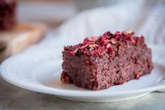 Beetroot, Chocolate and Rose Brownies (Gluten and Dairy Free)