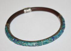 Vintage Bangle Bracelet Guilloche Enamel Chinese by patwatty, $145.00