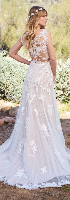 Lillian West Wedding Dress Collection Spring 2018 #bohowedding #boho #bohemian #bohobride #bohostyle #weddingdresses #weddinggowns #bridaldress #bride #bridal #bridalgown #brides #weddings