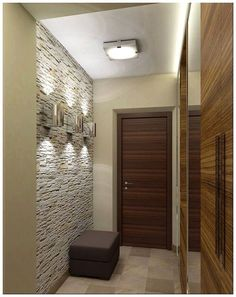 Stone decoration for interior walls - Little Piece Of Me Entryway Lighting, Entryway Decor, Modern Entryway, Interior Walls, Interior Design, Cosy Home, Hall Furniture, Lobby Design, Hallway Decorating