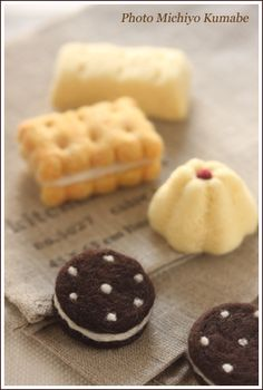 Needle felting Biscuits