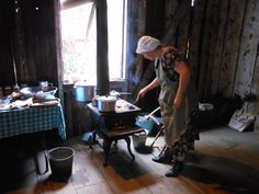 Cooking on a wood-burning stove