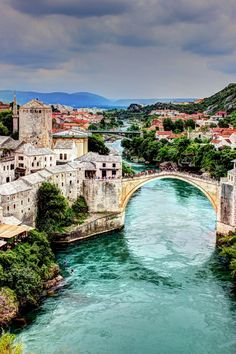 Mostar, Bosnia and Herzegovina #mostar #bosnia #bridge #river #beautiful #travel #trip #europe #unikstore