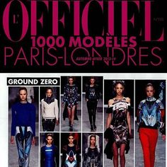 L'Officiel 1000 Modeles AW13 -14 featuring Ground Zero