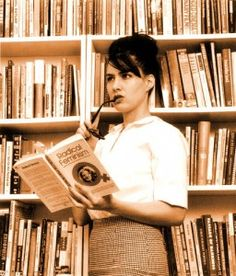 kathleen hanna in the band the julie ruin as a sexy feminist librarian http://boskybelle.com/2013/09/style-crush-kathleen-hanna/