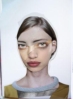 Dina Lynnyk, Oekraïne (collages en fashion desinger)
