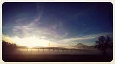 autobahnbruckn üba de #drau bei #villach mit #mittagskogel... Celestial, Sunset, Outdoor, Villach, Outdoors, Sunsets, Outdoor Games, The Great Outdoors, The Sunset