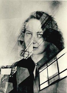 Judit Kárász (zugeschrieben), Otti Berger und Bauhaus, Doppelbelichtung, 1931 - 1932