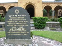 Mahnmal für die Opfer der deutschen Judenvernichtung im sog. III. Reich.Juedischer Friedhof Berlin-Weissensee