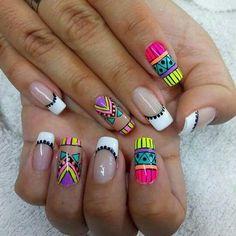 Manicure E Pedicure, Summer Nails, Pretty Nails, Nail Colors, Acrylic Nails, Nail Designs, Nail Art, Beauty, Uñas Fashion