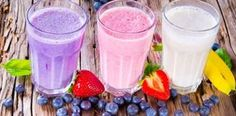 If you are a person who is always on the go and need a breakfast that will keep away hunger pangs till lunch hour, then protein smoothies is the answer. Read the given information to learn some delicious protein smoothie recipes. Fruit Smoothies, Smoothie Recipes With Yogurt, Protein Smoothie Recipes, Yummy Smoothies, Juice Smoothie, Vegetable Smoothies, Homemade Protein Shakes, Sumo Natural, Natural Herbs