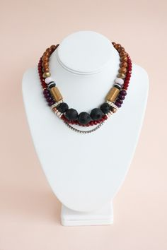 Collier Tombouctou rouge _ Charlotte Holsten
