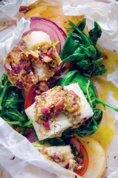 Fish is healthy and easy to fry, grill or bake. Check out these fabulous fuss-free recipes! Nectarine Salad, Spinach Gratin, Fishcakes, Fish Dishes, Free Food, Yummy Treats, Free Recipes, Sweet Potato