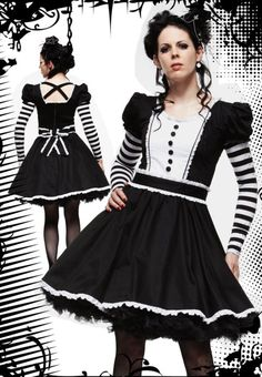 Gothic alice Lolita hell bunny dress