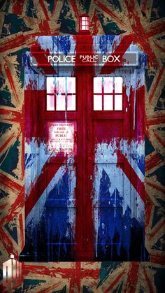 Splattered Union Jack Tardis by ~lucy-holland