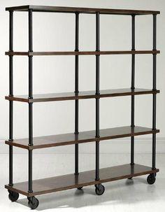"Industrial Mansard Double Bookshelf, 72""HX66.75""W, BLACK by Home Decorators Collection, http://www.amazon.com/dp/B005CONQPA/ref=cm_sw_r_pi_dp_.nwdrb0QE6DEQ"