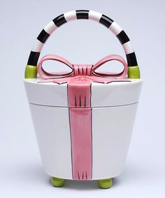 This Bow Cookie Jar is perfect! #zulilyfinds