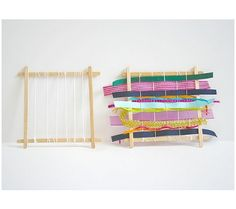 DIY weaving kit for toddlers Baby & Toddler Zone: DIY and Handmade Montessori and Waldorf Toys Weaving Loom For Kids, Loom Weaving, Diy Montessori Toys, Montessori Toddler, Montessori Bedroom, Toddler Toys, Summer Activities For Toddlers, Toddler Activities, Childcare Activities
