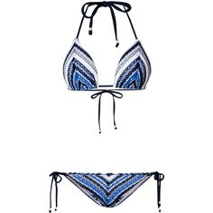 a99a3a3715c86 Polo Ralph Lauren crochet pattern bikini set (11,875 INR) ❤ liked on  Polyvore featuring swimwear, bikinis, black, crochet halter top, halter  tops, ...