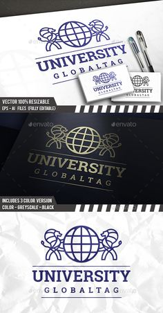 Lions World Logo Template PSD, Vector EPS, AI Illustrator
